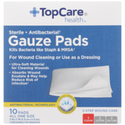TopCare Sterile Antibacterial Gauze All One Size Pads