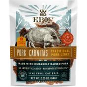 Epic Traditional Jerky Pork Carnitas