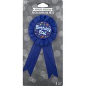 Creative Converting Award Ribbon, Birthday Boy
