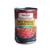 Meijer Mild Diced Tomatoes & Green Chilies