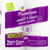 Ahold Paper Towels, Premium, Monster Roll, Full Size, 2-Ply
