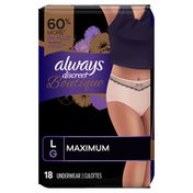 Always Discreet Boutique High-Rise Incontinence Underwear Size L