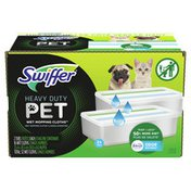 Swiffer Sweeper Pet Heavy Duty Multi-Surface Wet Cloth Refills for Floor Mopping and