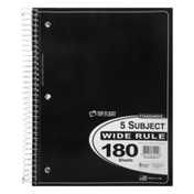 Standards 5 Subject Wide Rule 180 Sheets