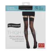 No nonsense Thigh Highs Lace Top Pantyhose