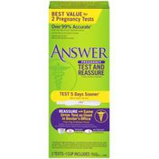 Answer Test and Reassure Pregnancy Test