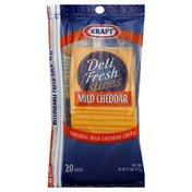 Kraft Cheese, Mild Cheddar, Slices