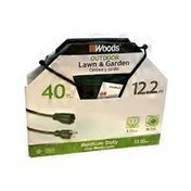 Woods 40' Green Feet Extension Cord