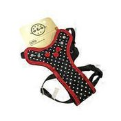 "Bond & Co. 12"" to 18"" Black Dot Fashion Dog Harness"