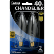 Feit Electric Light Bulb, Chandelier, 40 Watts