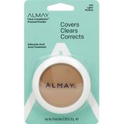Almay Clear Complexion 4 In 1 Blemish Eraser Pressed Powder, 200 Light/Medium
