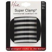 Mia Clamp, Super, Black/White