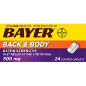 Bayer Aspirin, Extra Strength, 500 mg, Back & Body, Coated Caplets