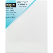 Sargent Art Stretched Canvas, 100% Cotton