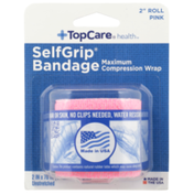 "TopCare Selfgrip, Maximum Compression Wrap Bandage 2"" Roll, Pink"