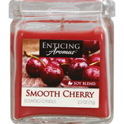 Enticing Aromas Scented Candle, Smooth Cherry, Soy Blend