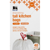Food Lion Tall Kitchen Bags, Drawstring, Odor Guard