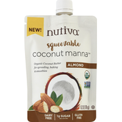 Nutiva Coconut Manna, Almond, Squeezable