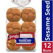 Sara Lee Restaurant Style Sesame Seed Hamburger Buns