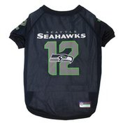 Pets First Large NFL Seattle Seahawks 12th Man Pet Jersey