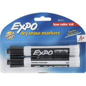 Expo Markers, Dry Erase, Low Odor Ink