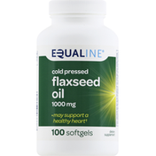 Equaline Flaxseed Oil, Cold Pressed, 1000 mg, Softgels