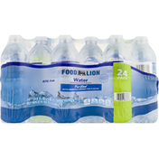 Food Lion Water, Purified, 24 Pack