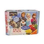 Langers Disney Frozen Fruit Punch Pouches