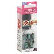 Impress Press-On Manicure, Short Length, Space Cadet BIPD090
