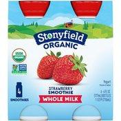 Stonyfield Organic Organic Strawberry Whole Milk Stonyfield Organic Strawberry Whole Milk Lowfat Yogurt Smoothies