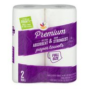 Ahold Full Size Paper Towels - 2 CT