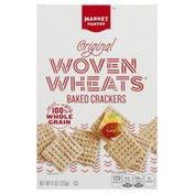Market Pantry Baked Crackers, Woven Wheats, Original