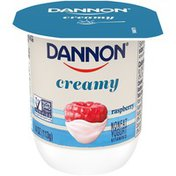 Dannon Creamy Raspberry Nonfat Yogurt