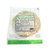 Mi Abuelita Bonita Naturals Spinach & Onion Flour Tortillas 6 Count