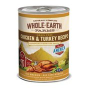 Whole Earth Farms Grain Free Chicken & Turkey Recipe Natural Food For Dogs