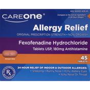 CareOne Allergy Relief Fexofenadine Hydrochloride Tablets
