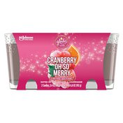 Glade Cranberry Oh So Merry Holiday Candles