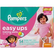 Pampers Easy Ups Big Pack Girls Size 3T-4T  Training Pants