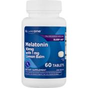 CareOne Melatonin 10mg with 1mg Lemon Balm