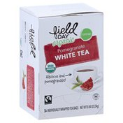 Field Day White Tea, Organic, Pomegranate, Tea Bags