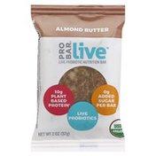 PROBAR Nutrition Bar, Live Probiotic, Almond Butter