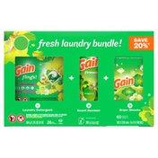 Gain Laundry Detergent Bundle, Flings, Fireworks And Dryer Sheets
