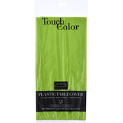 Touch of Color Tablecover, Plastic, Fresh Lime