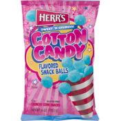 Herr's Snack Balls, Cotton Candy Flavored, Sweet 'N Crunchy