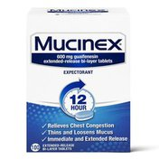 Mucinex® Expectorant 12 Hour Extended Release Tablets