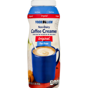 Food Lion Coffee Creamer, Non Dairy, Fat Free, Original
