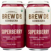 Brew Dr. Kombucha Organic Superberry Kombucha