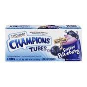 Chobani Greek Yogurt Champions Tubes Rockin Blueberry - 8 CT