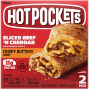 Hot Pockets Drive Thru Menu Style Sliced Beef 'N Cheddar Frozen Snacks