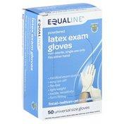 Equaline Latex Exam Gloves, Powdered, Universal Size